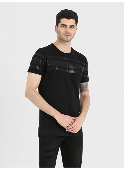 Loft Baskılı T-Shirt Siyah